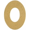 Metal Blank 24ga Brass Washer-oval 38mm With 29mmhole